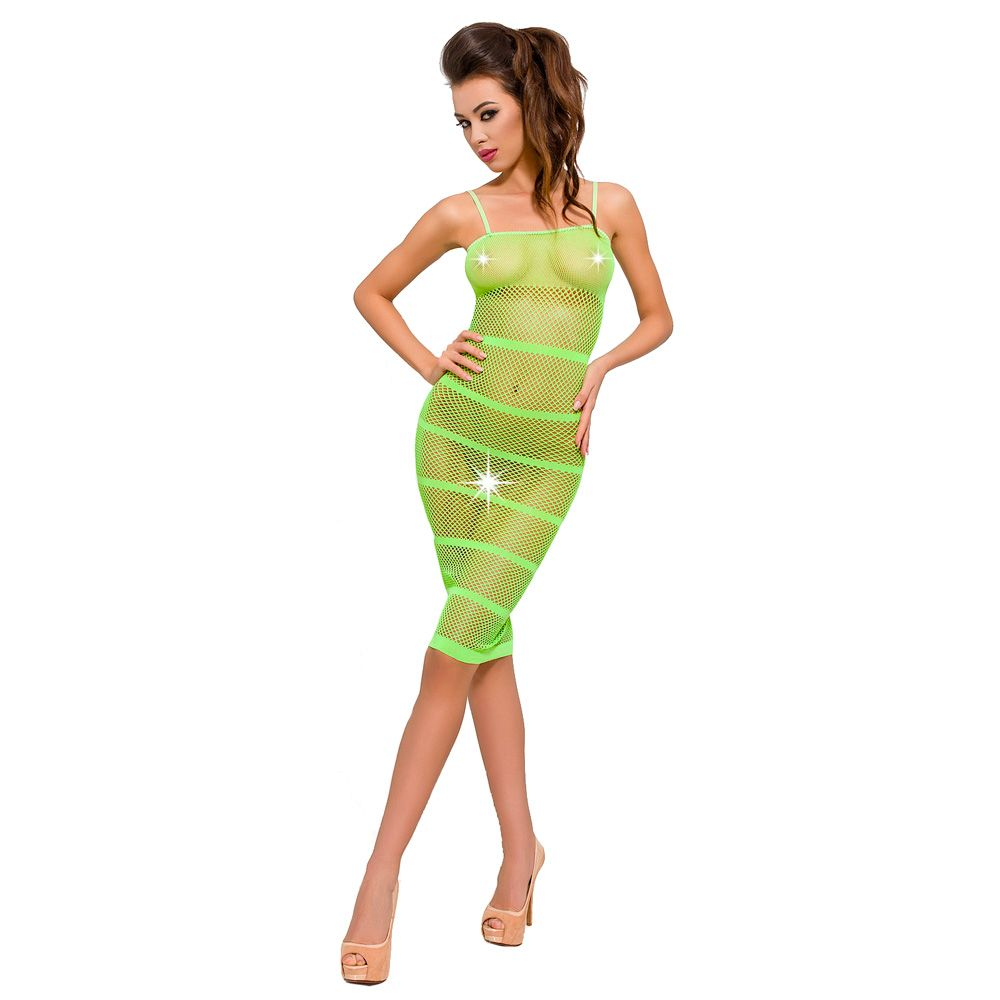 Passion Mesh Green Body Suit