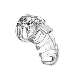Man Cage 02 Male 3.5 Inch Clear Chastity Cage