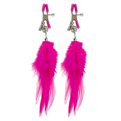 Fetish Fantasy Series Cerise Fancy Feather Clamps